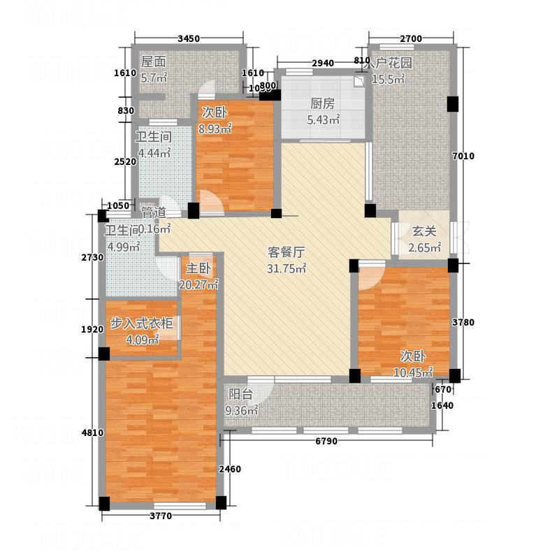 桂花园(桐庐)172.00㎡桂花园2-F3户型3室2厅2卫1厨