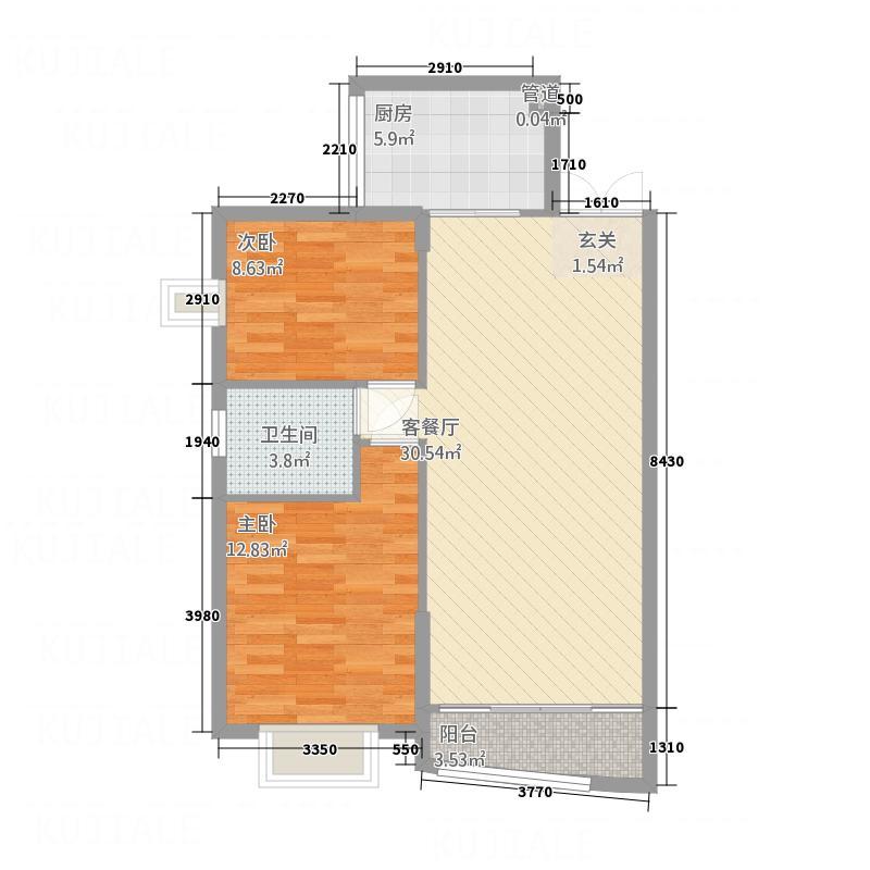 民智苑小区青2户型2室2厅2卫