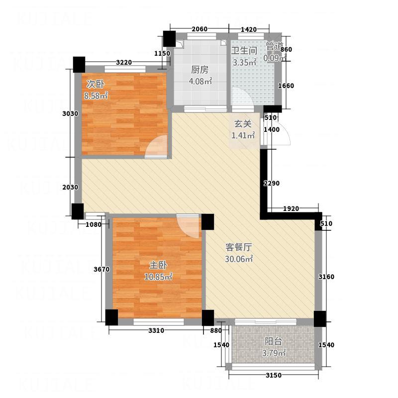 银桂苑232188.20㎡a户型3室2厅1卫1厨