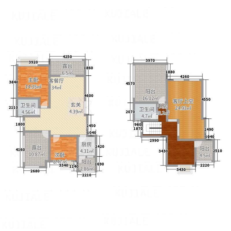 金鸿城三期・归谷123.60㎡C5户型3室2厅2卫1厨