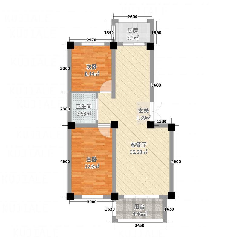 和美雅苑288.20㎡户型2室2厅1卫1厨