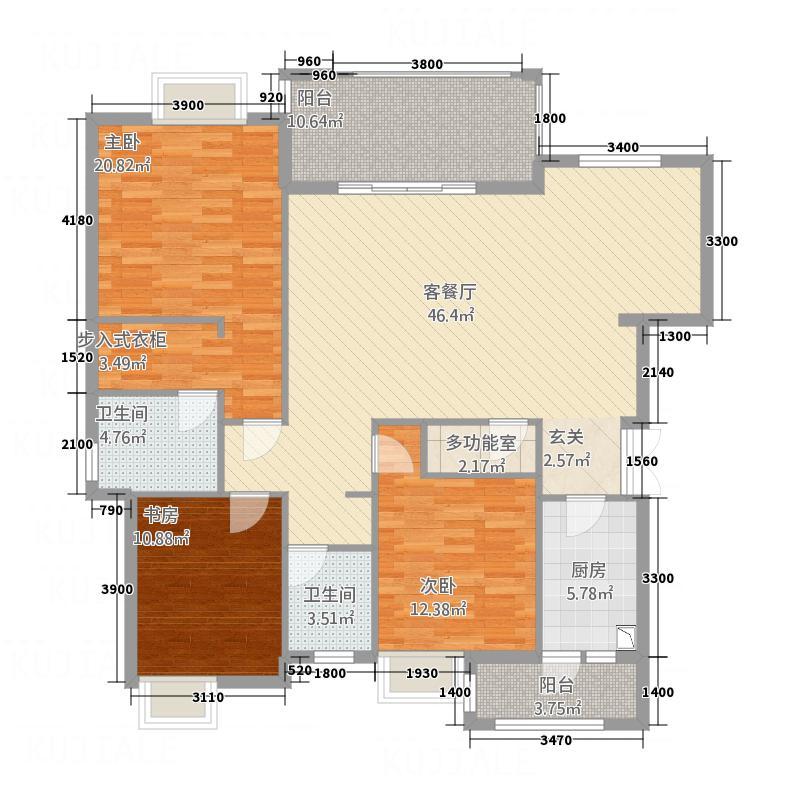 山海天32142.17㎡D户型3室2厅2卫1厨