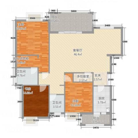 山海天3室1厅2卫1厨32142.00㎡户型图