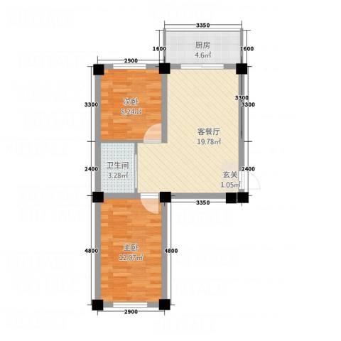 和美雅苑2室1厅1卫1厨262.00㎡户型图