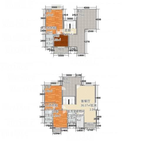 山海天4室2厅3卫1厨42164.00㎡户型图