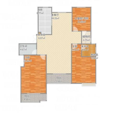 丽岛华都2室1厅1卫1厨173.00㎡户型图