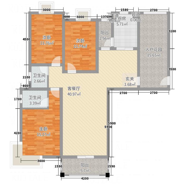 嘉成一品3136.20㎡户型3室2厅2卫