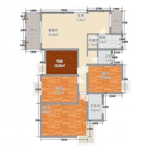 山海天4室1厅2卫1厨1414.00㎡户型图