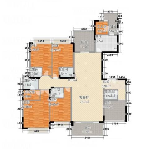 康怡花园4室1厅5卫1厨311.00㎡户型图