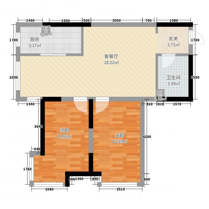 双源乐湖轩户型2室