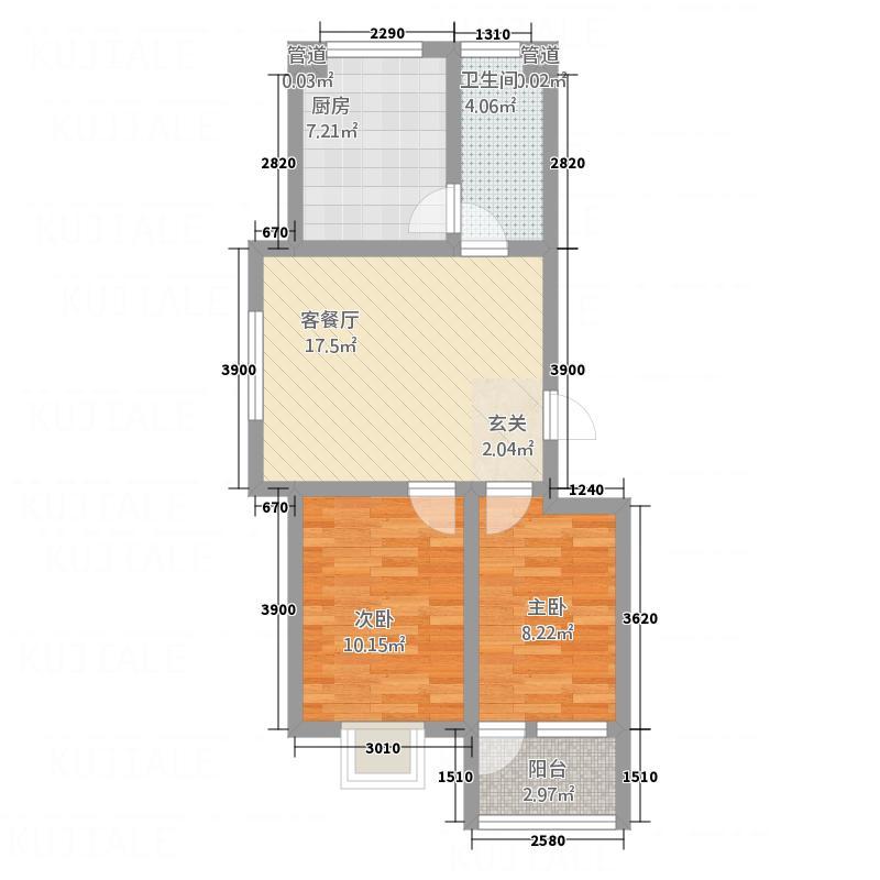 吉祥福海苑74.80㎡多层1户型2室1厅1卫1厨