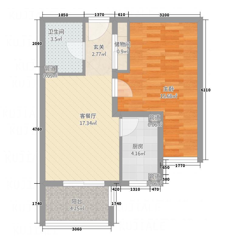 省建委家属院2居室6户型2室2厅1卫1厨