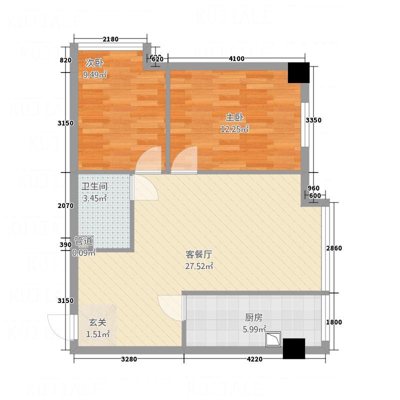 文香苑户型2室