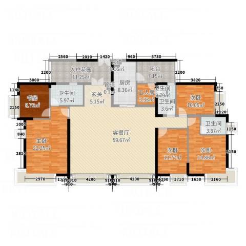 中天维港5室1厅4卫1厨240.00㎡户型图