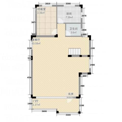 山泉三十六府1厅1卫1厨133.00㎡户型图