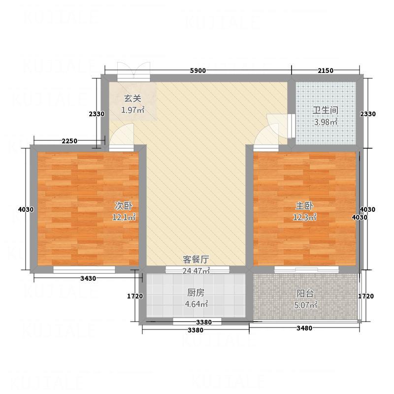远程晋阳明珠8.40㎡太原户型