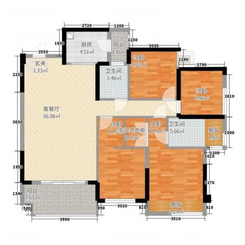 榄园4室1厅2卫1厨148.00㎡户型图