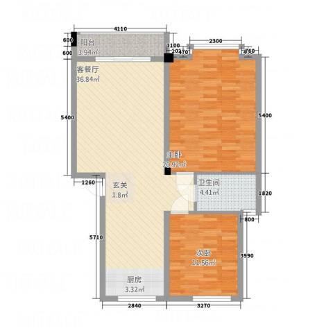 榄园2室1厅1卫0厨109.00㎡户型图