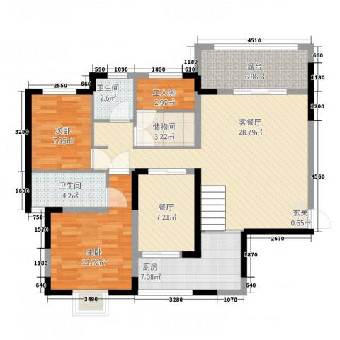 一品名门云墅2室2厅2卫1厨638.00㎡户型图