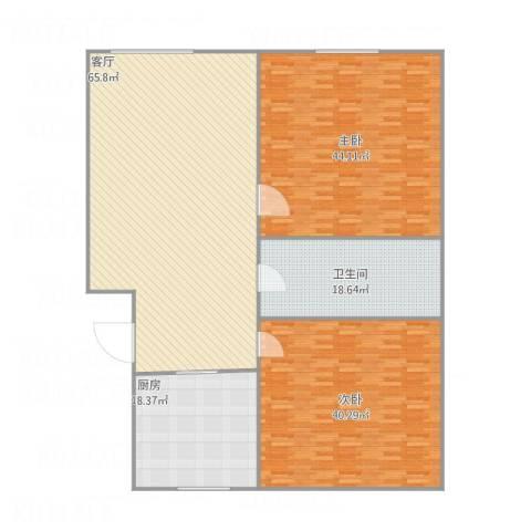良乡西路南大街小区2室1厅1卫1厨243.00㎡户型图
