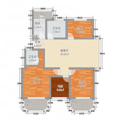 喜得宝花园4室1厅2卫1厨137.00㎡户型图