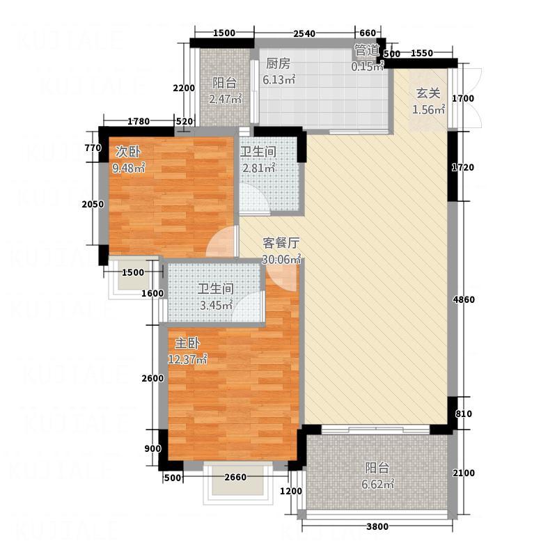 金海华府户型2室