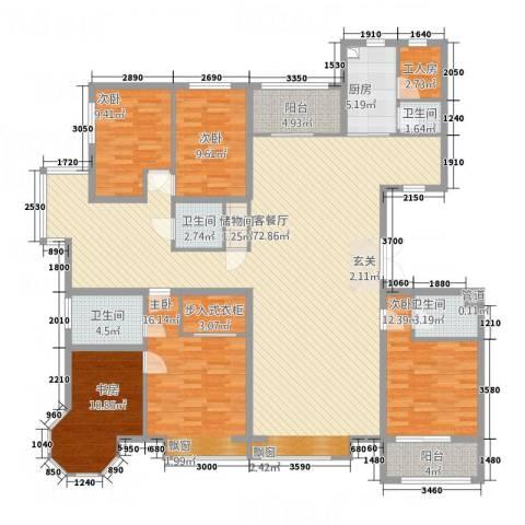 皇家壹里5室1厅4卫1厨236.00㎡户型图