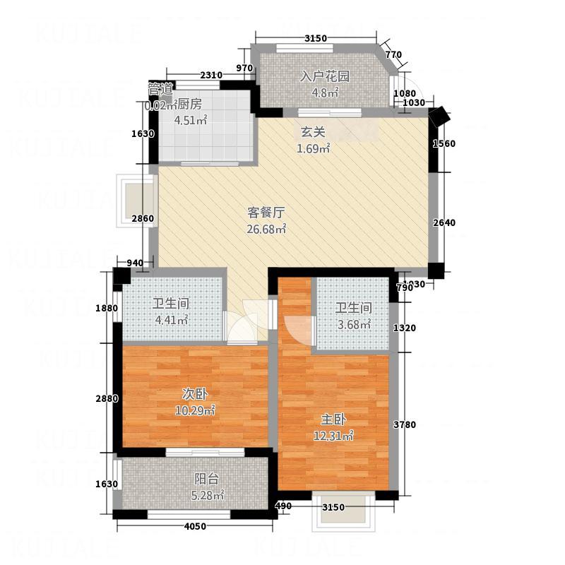 吉马・领秀国际14.26㎡3户型2室2厅2卫1厨