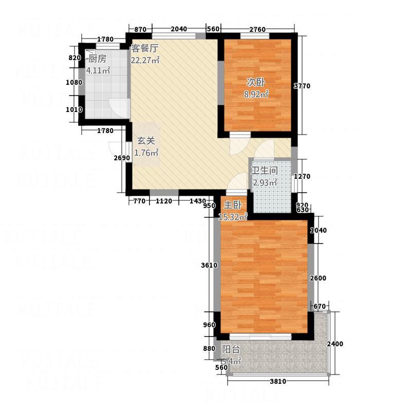 武夷水岸家园85.00㎡户型2室