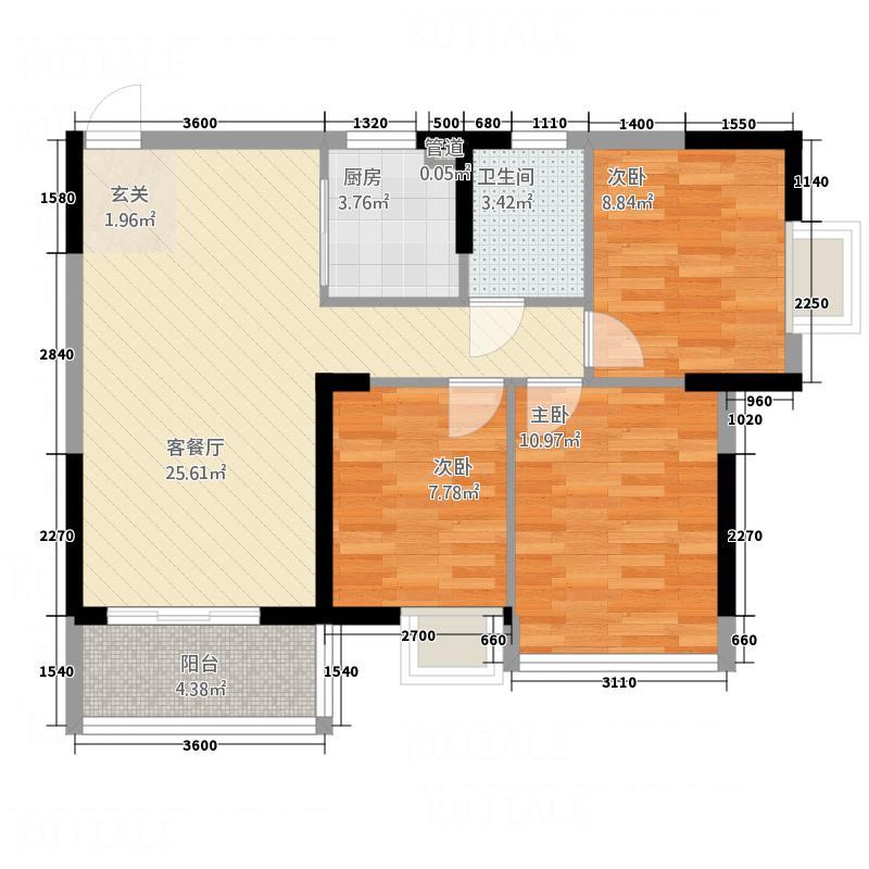 浩丰大厦122.00㎡户型3室