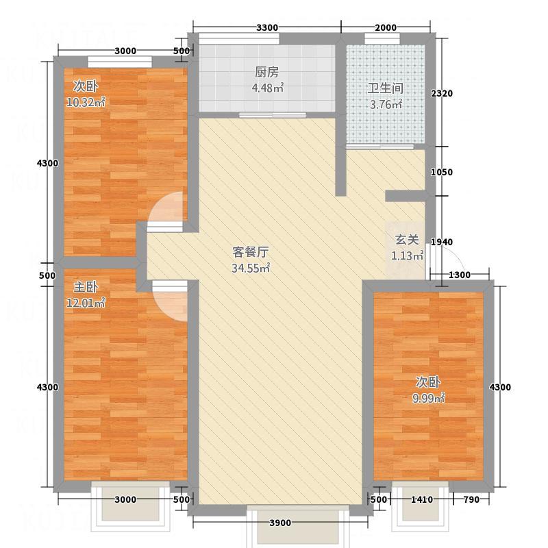 尚城逸景1.60㎡D5100户型3室2厅