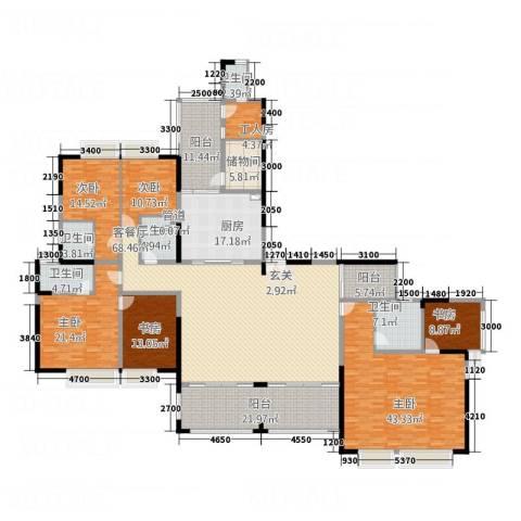 中天维港6室1厅5卫1厨270.03㎡户型图