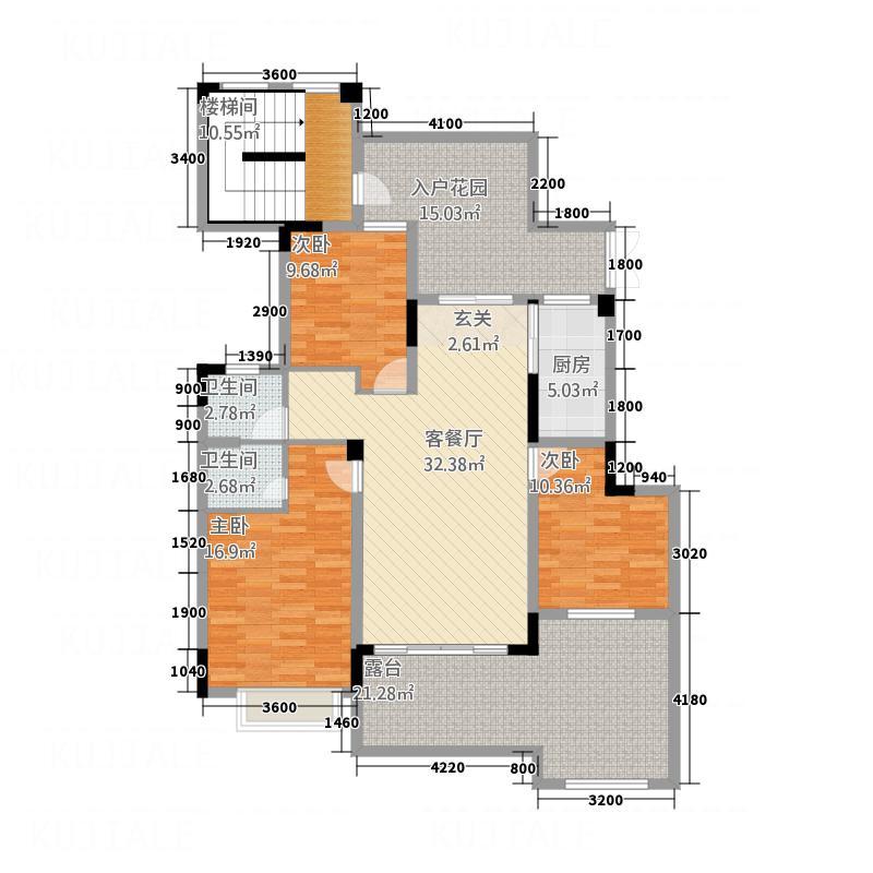 万晟・阳光城12152.64㎡12号楼202下跃复式户型3室2厅2卫1厨