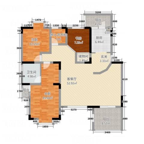 龙珠花园3室1厅1卫0厨115.59㎡户型图