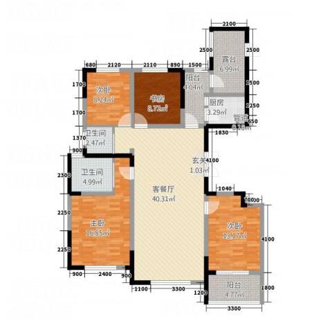 泰时新雅园4室1厅2卫1厨164.00㎡户型图