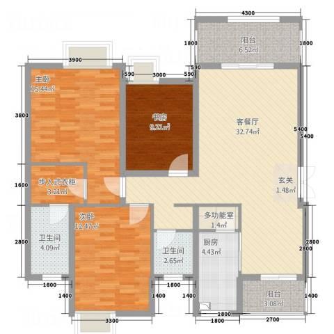 山海天3室1厅2卫1厨3211.00㎡户型图