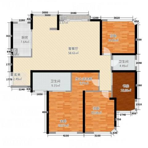 海角7号4室1厅2卫1厨164.77㎡户型图