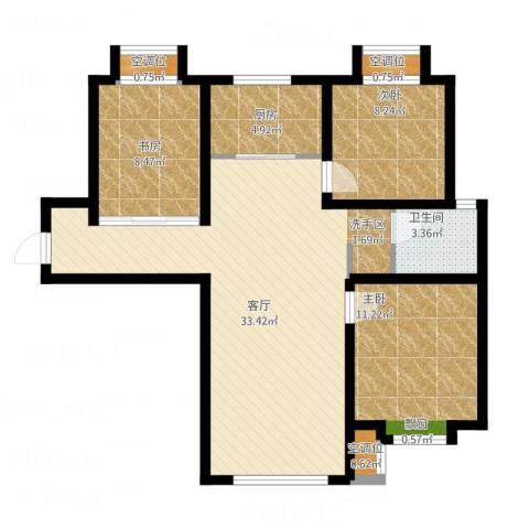 远洋红熙郡3室1厅1卫1厨83.60㎡户型图