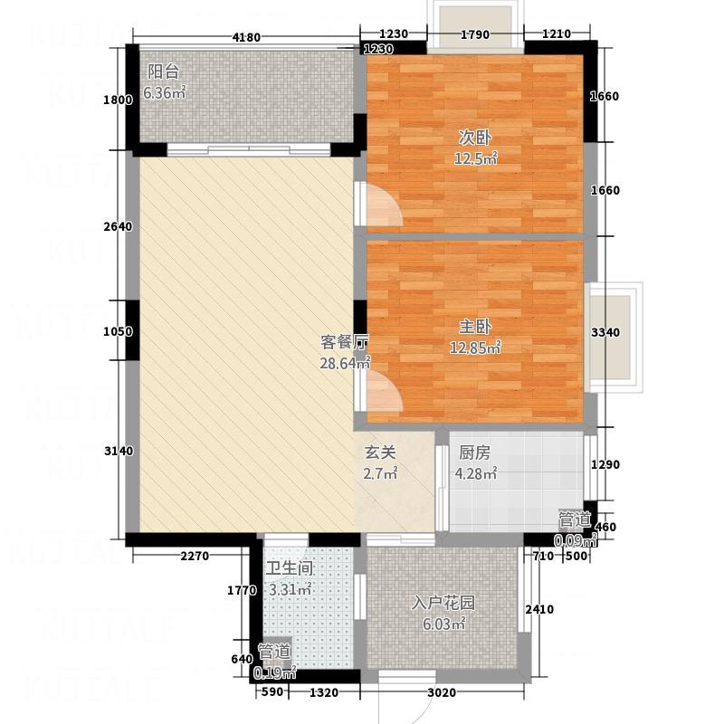 海角7号户型2室2厅1卫1厨