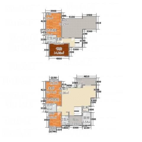 山海天4室1厅3卫1厨4214.00㎡户型图