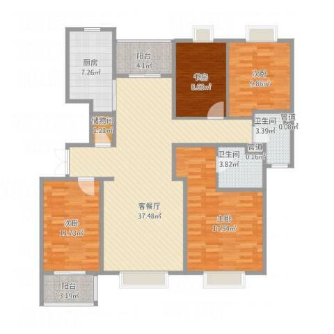 博威黄金海岸4室1厅2卫1厨152.00㎡户型图