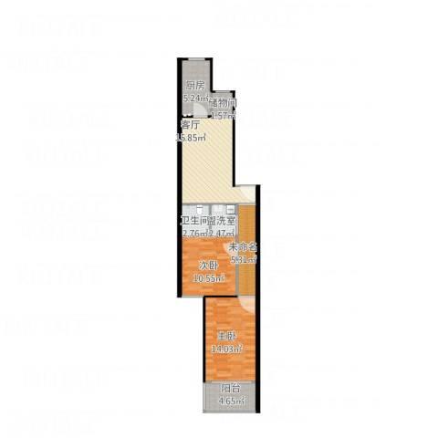 安翔里2室2厅1卫1厨88.00㎡户型图