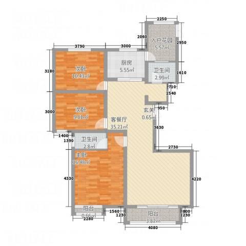 安阳义乌商贸城二期3室1厅2卫1厨135.00㎡户型图