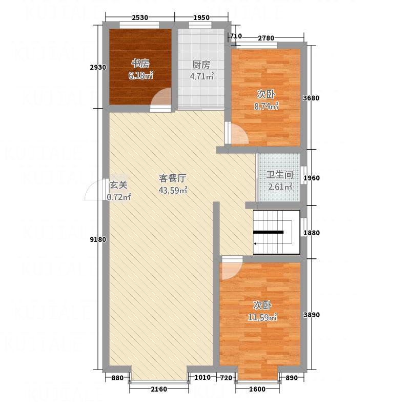 冠农・汇景台177.50㎡F户型5室2厅2卫