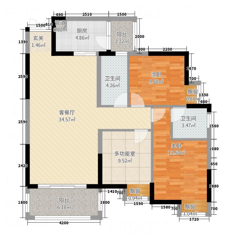 西城名苑55.20㎡5号楼5号房户型