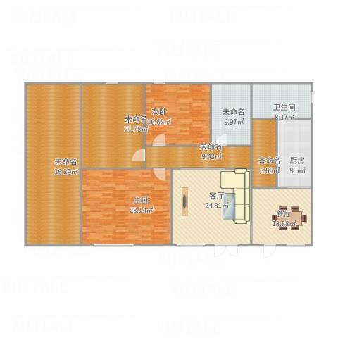龙江秀水园2室2厅1卫1厨246.00㎡户型图