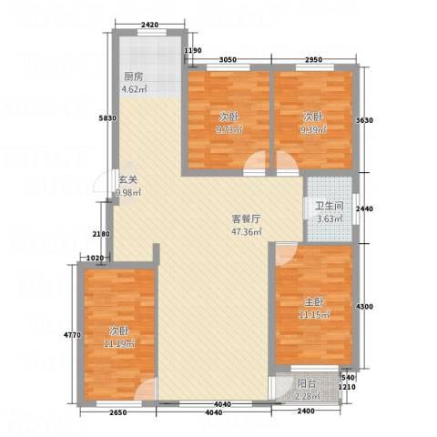 城润万家4室1厅1卫0厨94.73㎡户型图