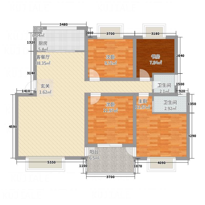 香寓136.30㎡Y3户型