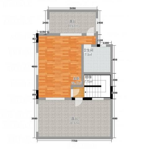流溪河山庄1室0厅1卫0厨115.00㎡户型图