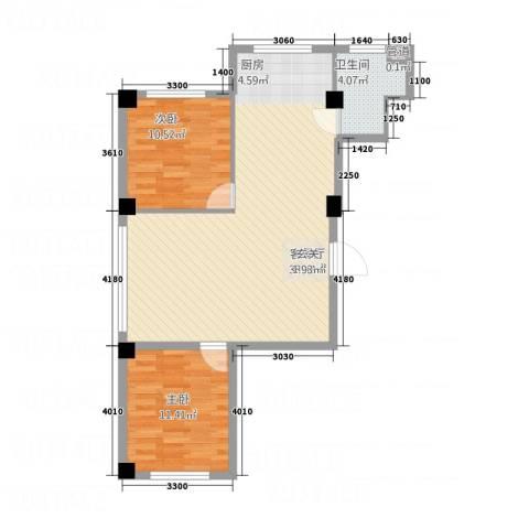 馨悦家园2室1厅1卫0厨64.92㎡户型图